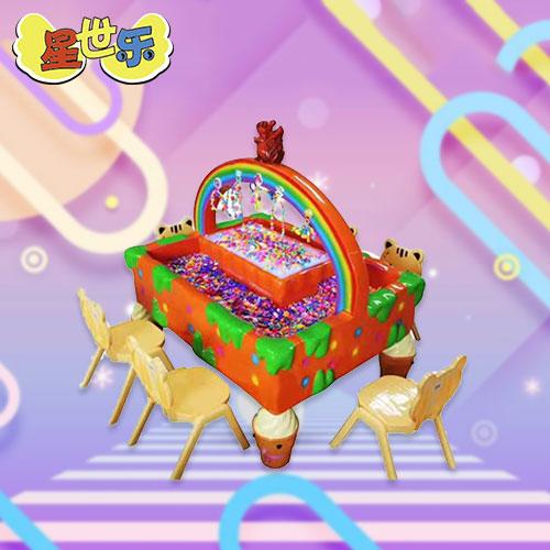 彩虹串珠桌